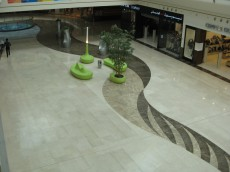 Mall of Arabia, Jeddah - pavimento in marmo